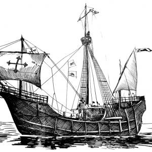 Loď Santa Maria - Kryštof Kolumbus