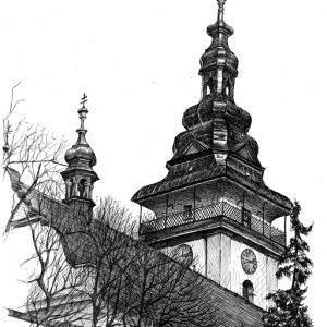 Moravské Budějovice - věž kostela
