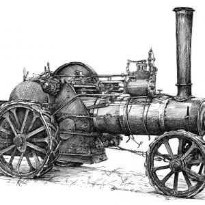 Parní traktor, lokotraktor, lokomobila, Steam Tractor