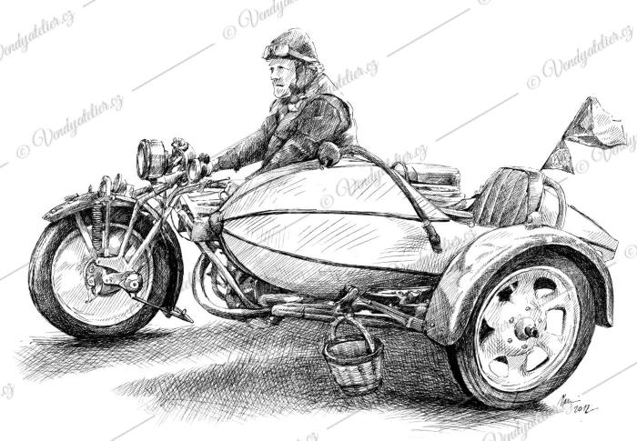 Čechie-Böhmerland, motoveterán, motorka, veterán