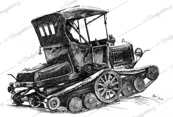 Ford T - zimní varianta