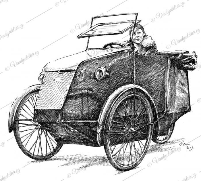 Pedelux cyklus - auto tříkolka