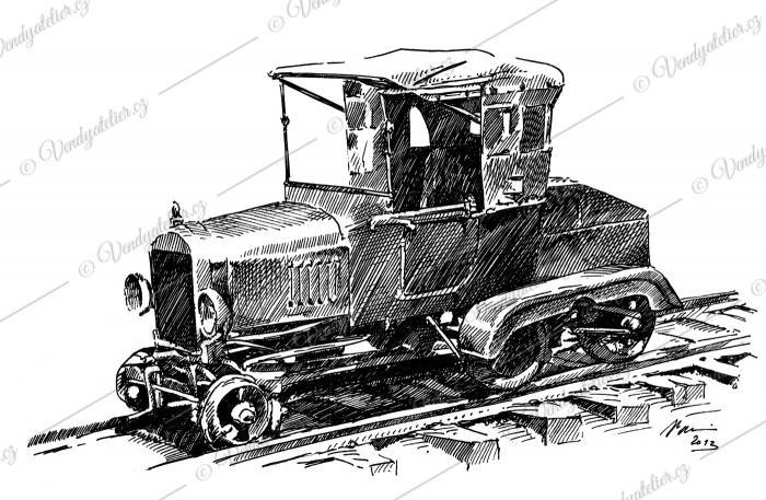 Ford T - železniční vozidlo