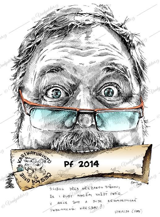 Novoročenka - Česká unie karikaturistů