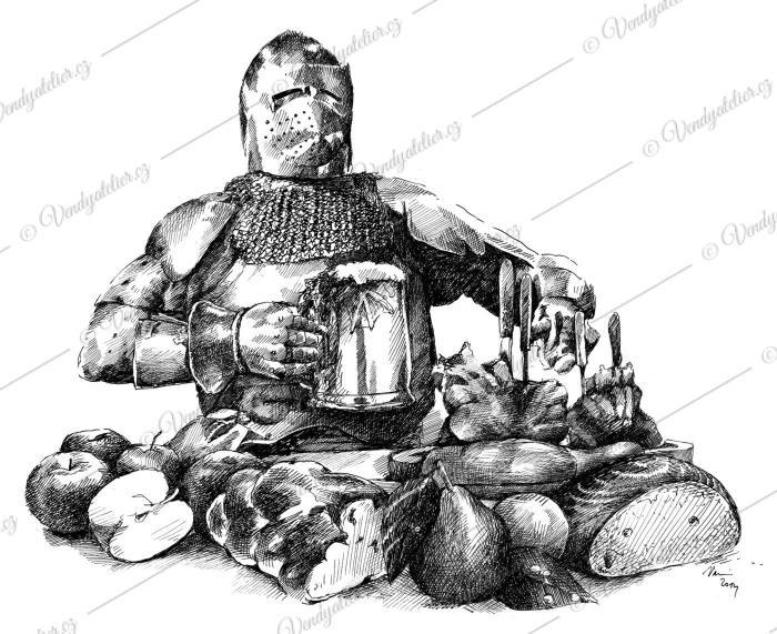 Blanický rytíř u snídaně