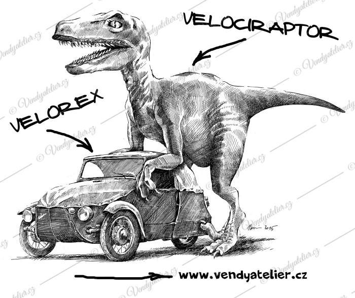 Velociraptor a Velorex