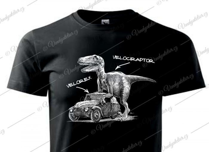 Velociraptor - černé triko