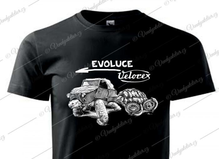 Velorex evoluce - černé triko