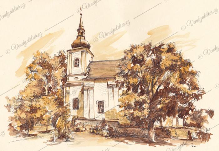 Kostel sv. Jana Křtitele - Lukov u Moravských Budějovic