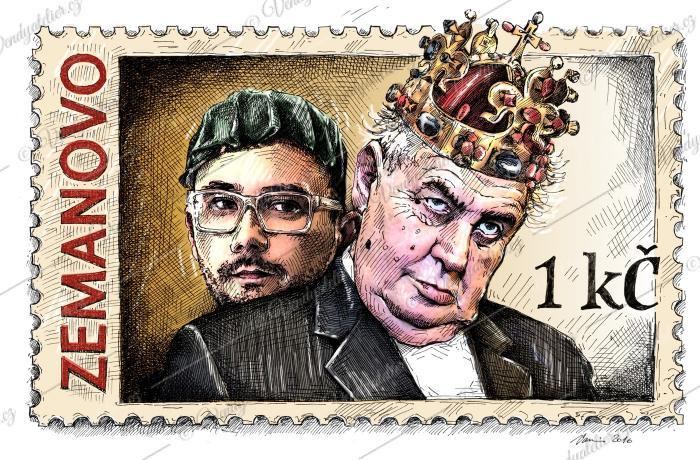 Nová poštovní známka - Zeman