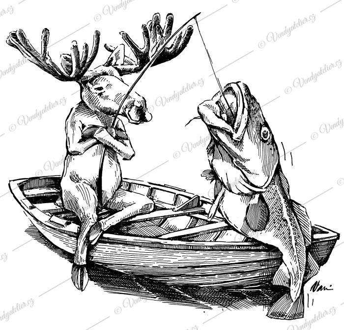 Los - rybaření v Norsku