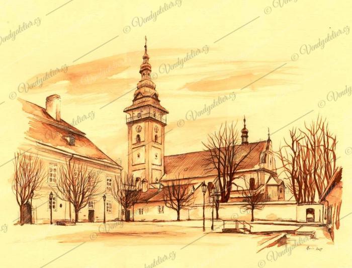 Moravské Budějovice - zámecké nádvoří