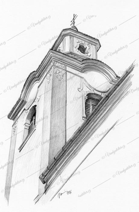 Moravský Krumlov, věž klášterního kostela sv. Bartoloměje