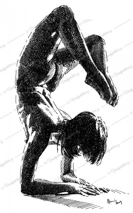 gymnastka - akt