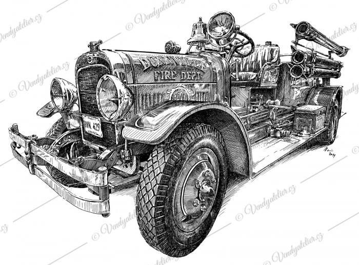 Hasičské auto, autoveterán