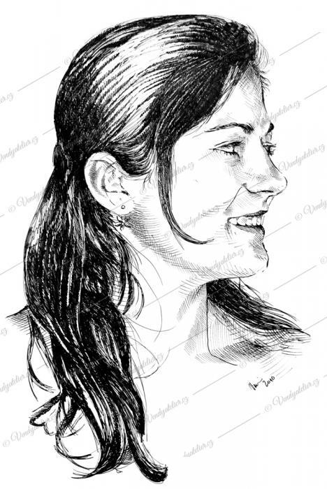 "Portrét - kresba na ""bránu"" na loučení se svobodou."