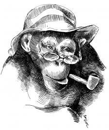 Opice kuřák