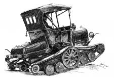 Ford Model T Skútr - Snowmobile '1922