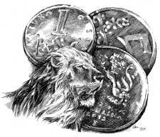 Český lev a koruna