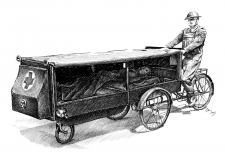 Přeprava raněných za 1. světové války