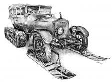 Rolls Royce  -  Silver Ghost model.