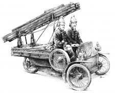 Girling 3-kolový Fire Truck, cca. 1910