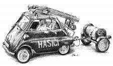 Hasičské zásahové vozidlo - Isetta