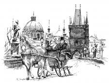 Praha - Karlův most v zimě