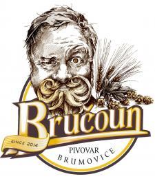 Bručoun - návrh na pivní etiketu