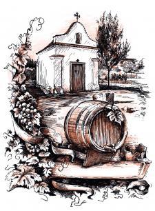 Vinařský motiv - Archlebov
