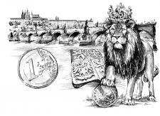 Český lev - Koruna a Euro