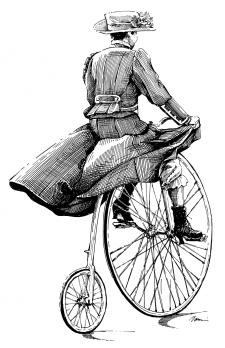 velociped - dáma