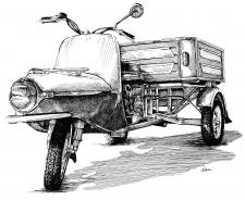 ČZ 175 typ 505-01 rikša