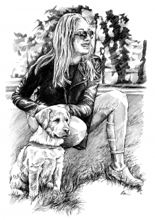 Dívka se psem
