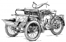 Laurin & Klement tříkolka LW