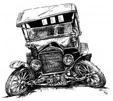 Autoveterán - havárie, old car wrecks