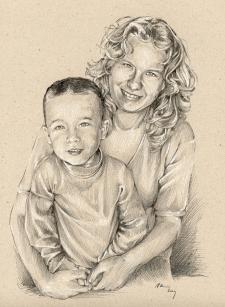 Beránkovi - portrétní kresba