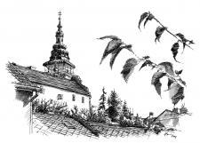 Moravské Budějovice - perokresba © M. Vomáčka - vendy@vendyatelier.cz