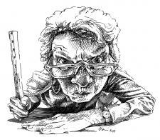 Učitelka - kresba