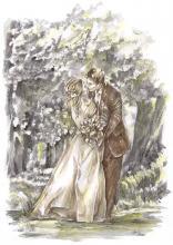 polibek, svatba, novomanželský polibek