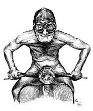Bláznivý motorkář