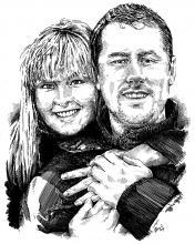 Novomanželé - portrét
