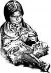 indiánské děcko